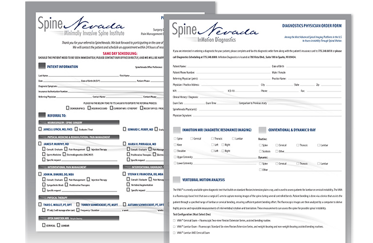 patient forms for spine nevada